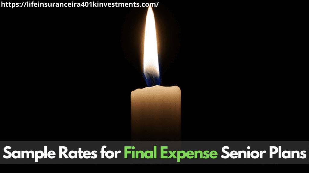 Sample Rates for Final Expense Senior Plans